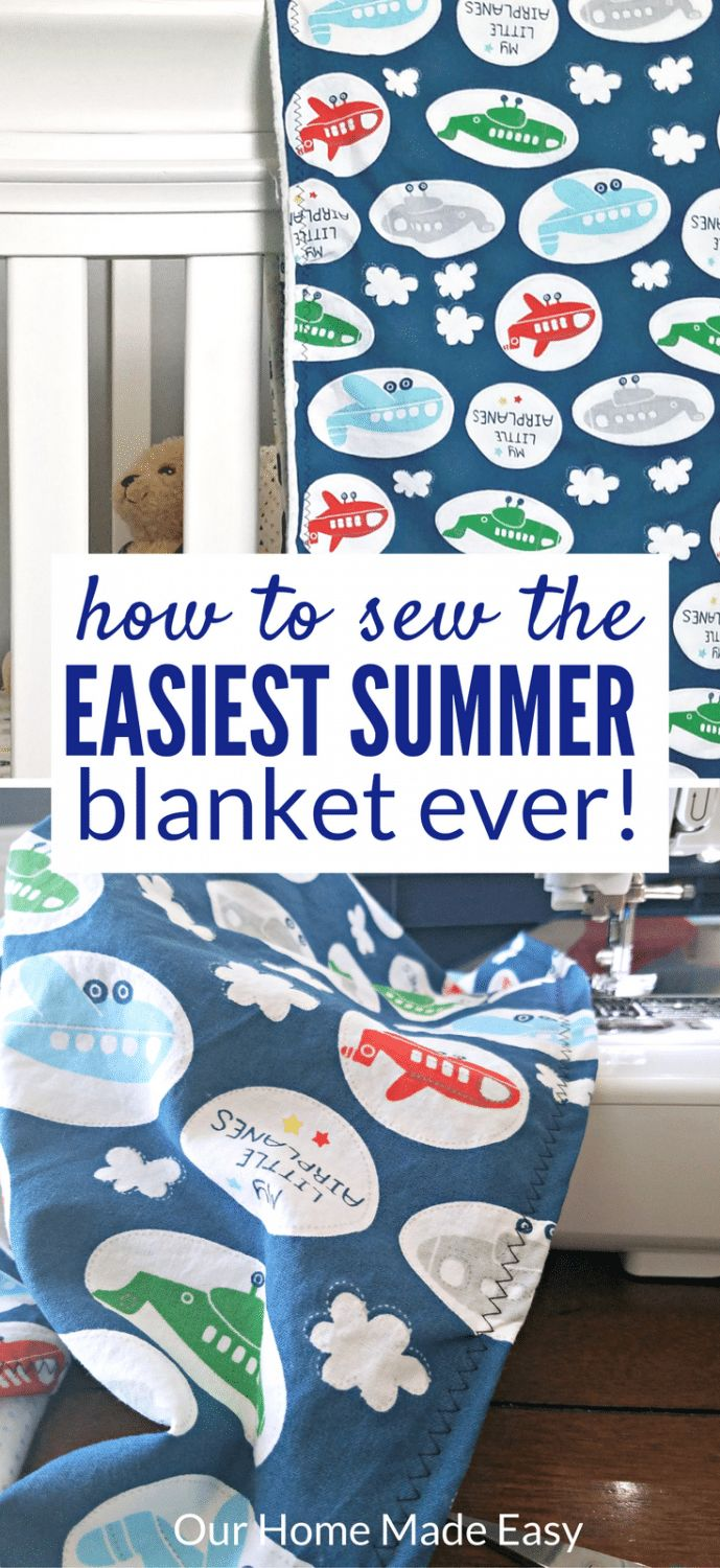 This is the perfect beginner sewing project! Make this light summer blanket in a…