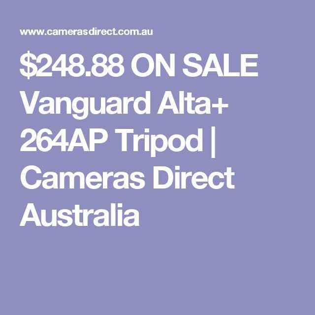 $248.88 ON SALE Vanguard Alta+ 264AP Tripod | Cameras Direct Australia