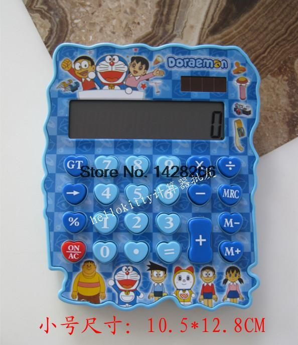 Hello Kitty Creative Solar Calculator Irregular Edge Desktop Calculating SpongeBob Doraemon Cute Kawaii Cartoon Gift for. Click visit to buy #Calculator