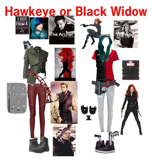 """""""Hawkeye or black widow"""" by ironkyle ❤ liked on Polyvore featuring Balmain, Skechers, Converse, Cheap Monday, The North Face, Smith & Wesson, Marvel and Beautiful People"""