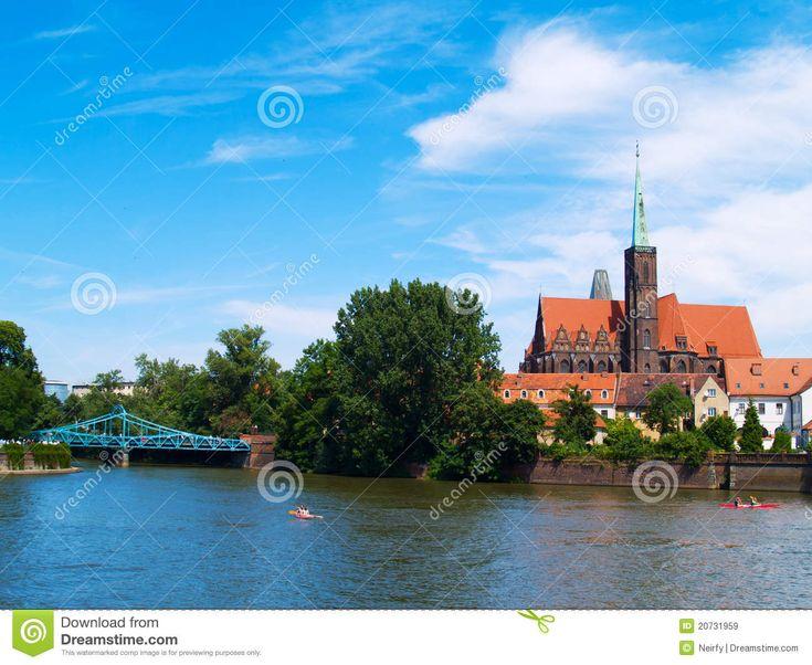 Vieille Ville De Wroclaw, Pologne Image stock - Image du oder, île: 20731959