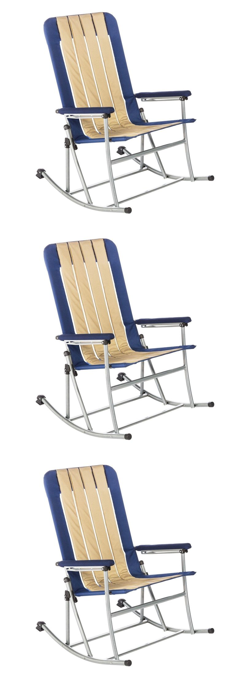 Camping Furniture 16038: Folding Lawn Chair Outdoor Patio Beach Camping Portable Pool Seat Rocker Rocking -> BUY IT NOW ONLY: $93.99 on eBay!
