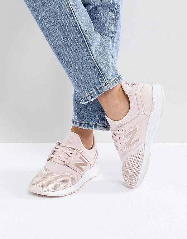 New Balance 247 Luxe Trainers In Pink Nubuck | clothes in