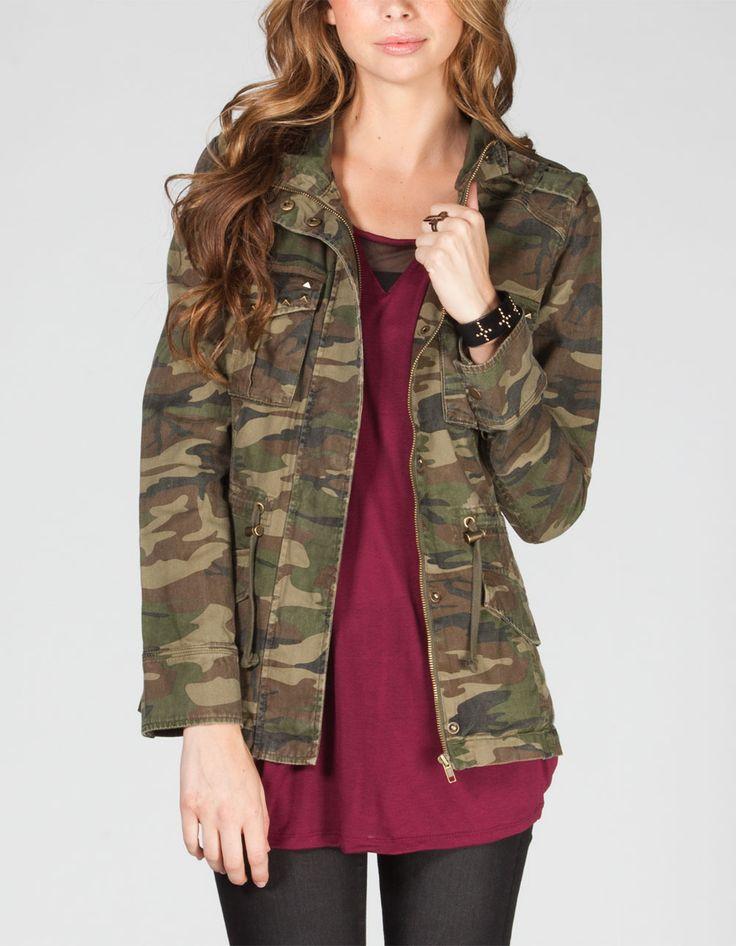 Womens camo jacket tilly's