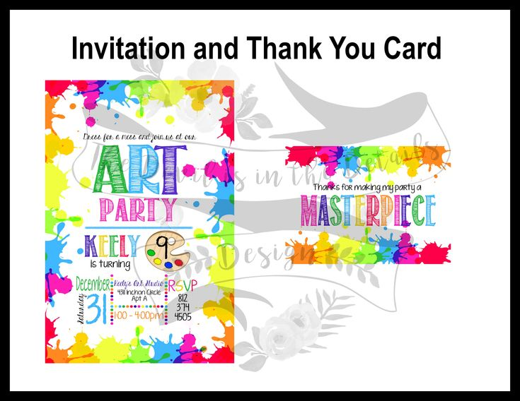 13 best birthday invitation designs images on pinterest birthday artist birthday party invitation and thank you card contact us on facebook facebook filmwisefo