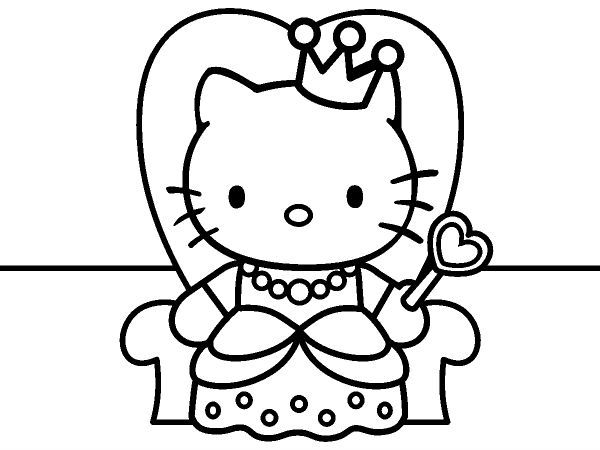 31 best hello kitty images on pinterest crochet tote for Hello kitty princess coloring page