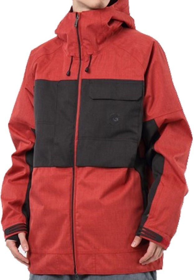 Bonfire Eager Men's Ski & Snowboard Jacket, L, Red/Black