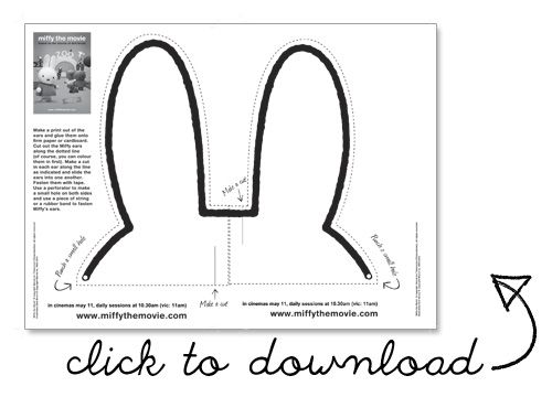 Craft activity for the party - make miffy ears
