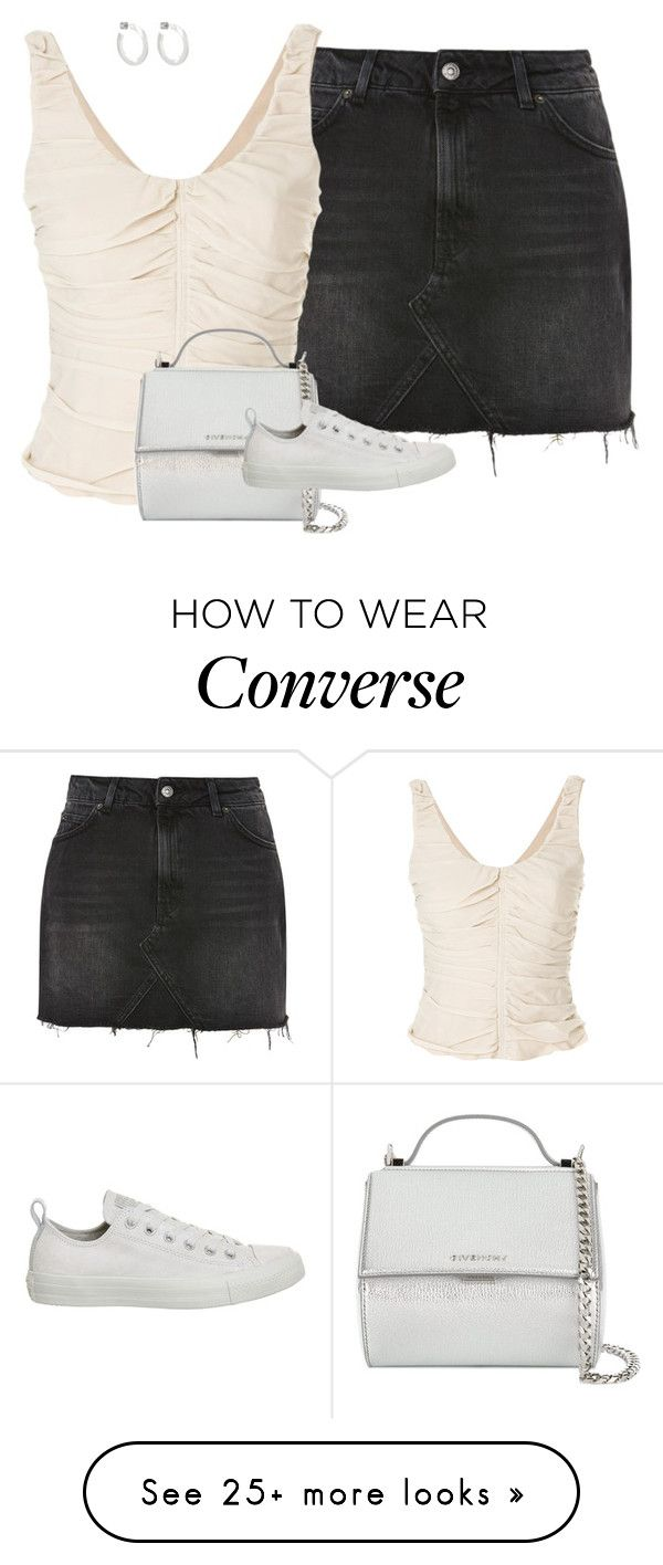 """""""Untitled #20"""" by redloveca on Polyvore featuring Topshop, Armani Collezioni, Givenchy, Converse and Jennifer Fisher"""