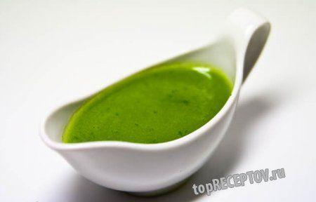 Зеленый канарский соус с кинзой