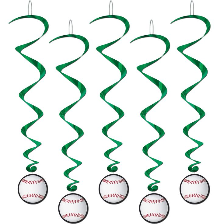 Baseball Whirls 5 Pk Party Supplies Canada - Open A Party