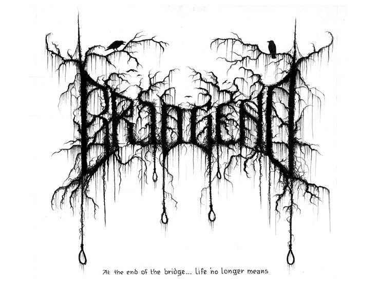 Bridge End, one of the many black/death band logos by Christophe Szpajdel.