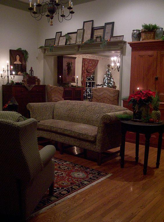 43 best cottage living room ideas images on pinterest for Primitive decorating ideas for living room
