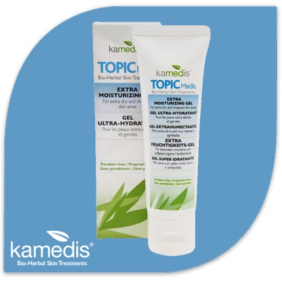 Introducing TOPIC Medis Extra Moisturizing Gel – it offers a herbal solution and relief for dry & chaffed skin, such as knees, elbows, palms and feet. The Gel delivers an enhanced softening action, and is the only one that uses traditional Chinese herbs.    www.kamedis-shop.com $24.95