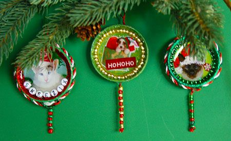 Upcycled Holiday Ornaments