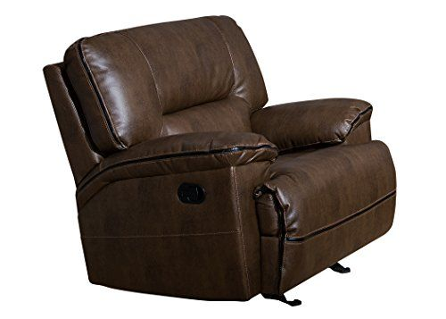 Scandinavian Christies Home Living Contemporary Glider Reclining Room Arm Chair, Brown >>> You can find out more details at the link of the image.