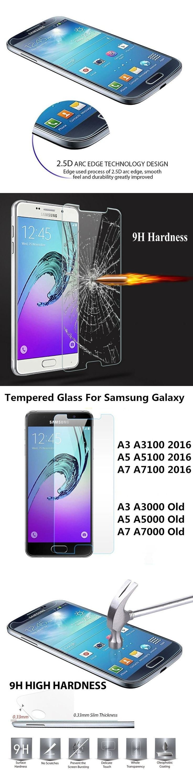 Explosion Proof Premium Tempered Glass For Samsung Galaxy A3 A5 A7 J3 J5 J7 J1 2015 2016 J2 PRIME Film Screen Protector Guard