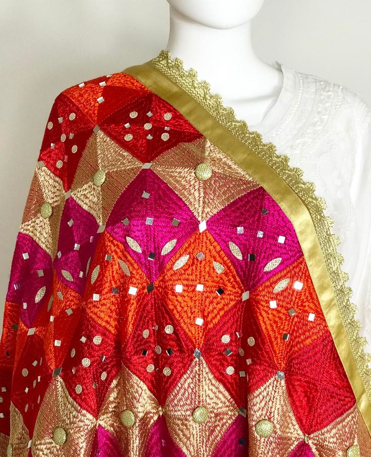 Bridal Phulkari Dupatta♥️ one pc in stock. DM us for more info. To shop online visit our website www.PinkPhulkari.com