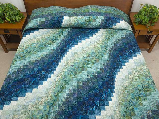 Amish Bargello Wave -Thinking of smaller version of this within border from water lilies quilt. Maybe not so many different fabrics & slightly bigger squares to simplify?