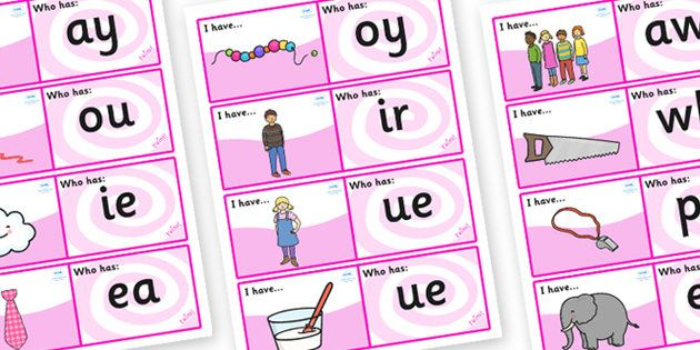 Phonics Loop Cards - caption loop cards
