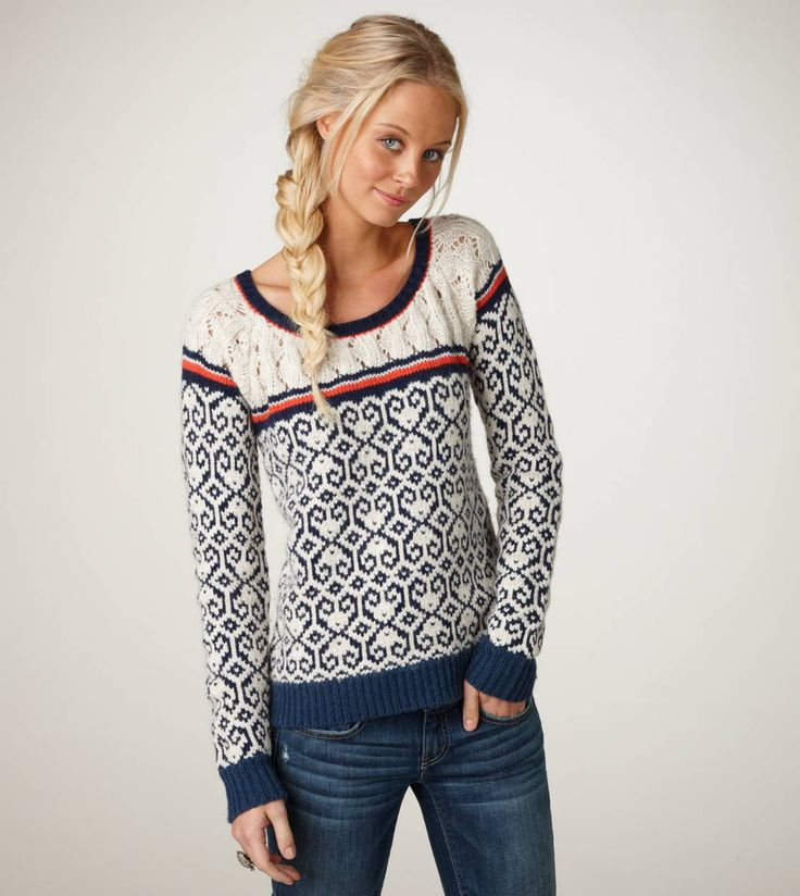 Fair Isle Crew Sweater // $59.50 // ae.com