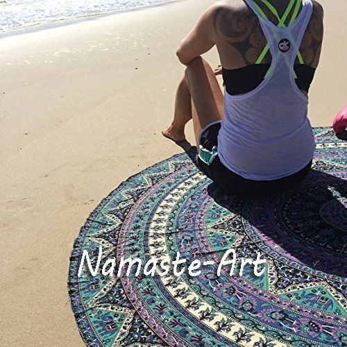 72'' Bohemian Round Mandala Wall Hanging Beach Art Throw Towel Yoga Mat Tapestry #Unbranded #ArtDecoStyle