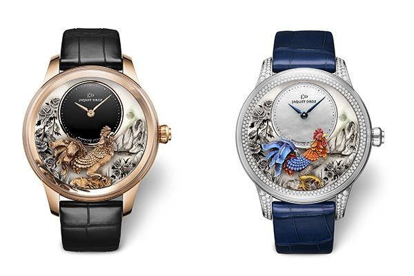 Jaquet Droz Petite Heure Minute Relief Rooster