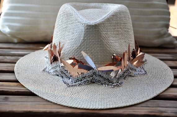 Burning man hat, Festival hat, Rave panama hat, Parade hat, Carnival straw hat, Gypsy hat, Summer bo – Products