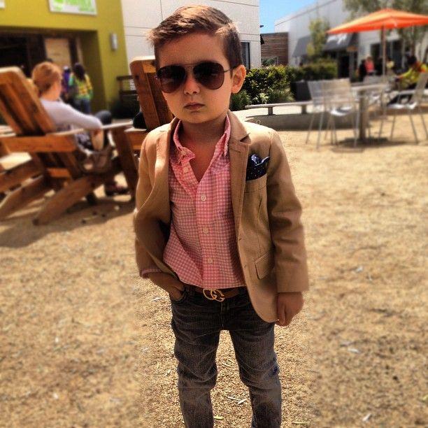 Little boss. Cutie! Gonna be a heartbreaker when he's older! #swag