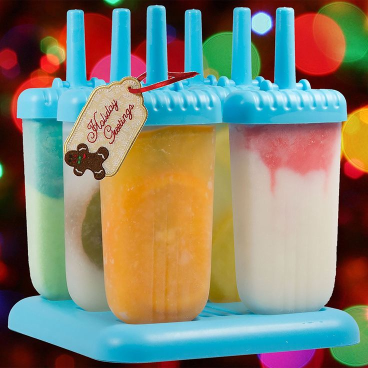 Kitchen Paradise Ice Pop Maker Popsicle Mold- Set of 6 Tropical Blue Reusable, BPA free, Durable Tupperware Quality Molds with Sturdy Tray, Recipe E-Book Included - Clearance Sale >>> Remarkable product available now. : home diy kitchen