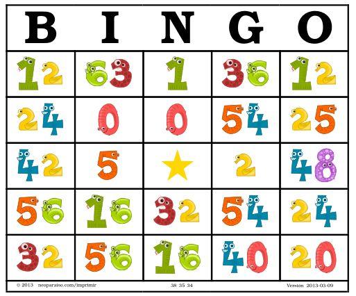Bingo de Multiplicaciones