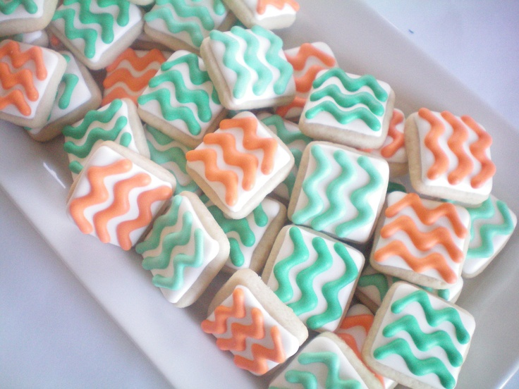 Mini Chevron cookies. $20.00, via Etsy.