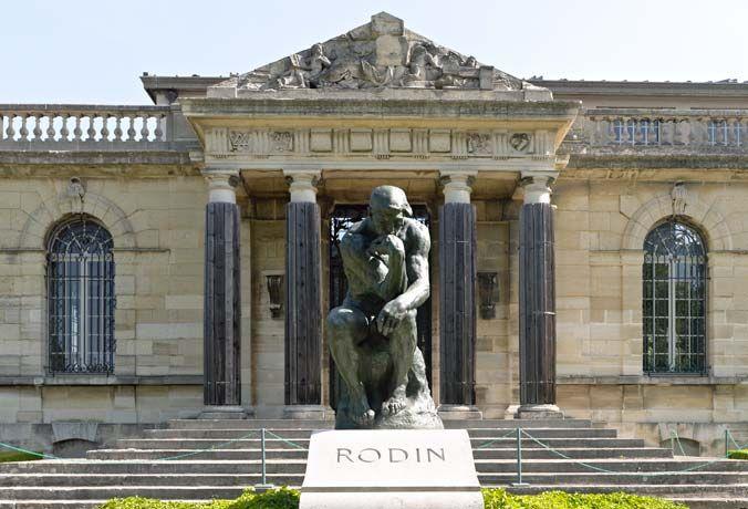 Le Penseur, sur la tombe de Rodin, au musée Rodin Meudon