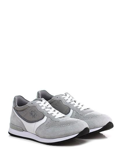 LA MARTINA - Sneakers - Uomo - Sneaker in camoscio, pelle e tessuto tecnico con suola in gomma. Tacco 30, platform 20 con battuta 10. - ICE\GREY - € 149.00