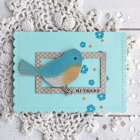 Hi There Card by Heather Nichols for Papertrey Ink (July 2017)