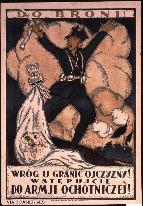 Польские плакаты времен советско-польской войны 1920 г.. Восточная Европа и Скандинавия. История пропаганды