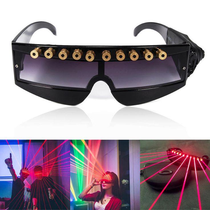 5MW 650nm Stage Red Laser Glasses Cool DJ Laser Glasses Sale - Banggood.com