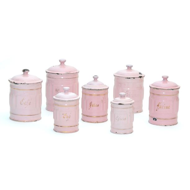 pink kitchen canisters french canisters set of 7 best kitchen canister sets ideas 3280
