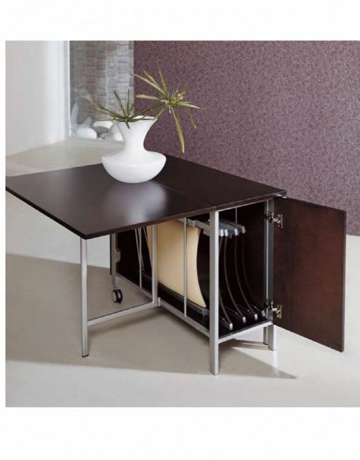 Trojan Console To Dining Set With 4 Hidden Nano Chairs.  (expandfurniture.com)