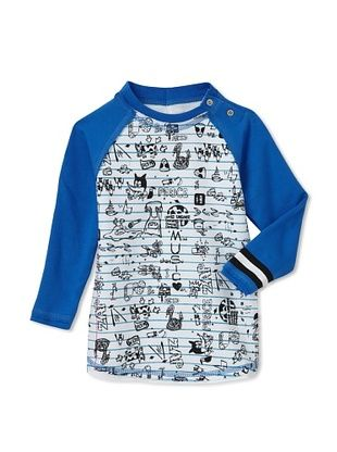 76% OFF Mini Shatsu Kid's Doodle Snap Raglan (White)