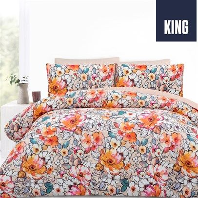 Kitsune Orange King Size Quilt Cover Set, $39 plus postage from dealsdirect