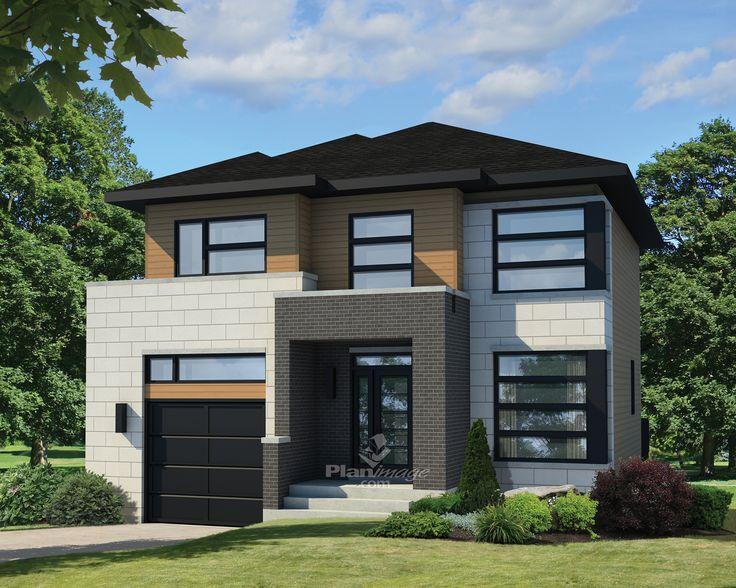 Lumineuse et accueillante, cette maison à étage de facture urbaine se distingue par le choix des revêtements et le porche surplombant la vaste entrée.