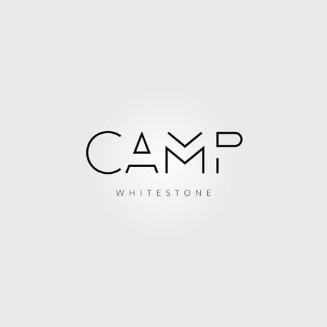 Graphic Design Inspiration . Camp Whitestone Logo . Geometric .