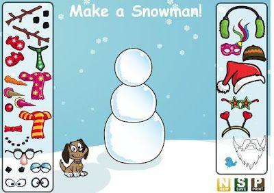 Jocs d'ordinador per fer un ninot de neu.