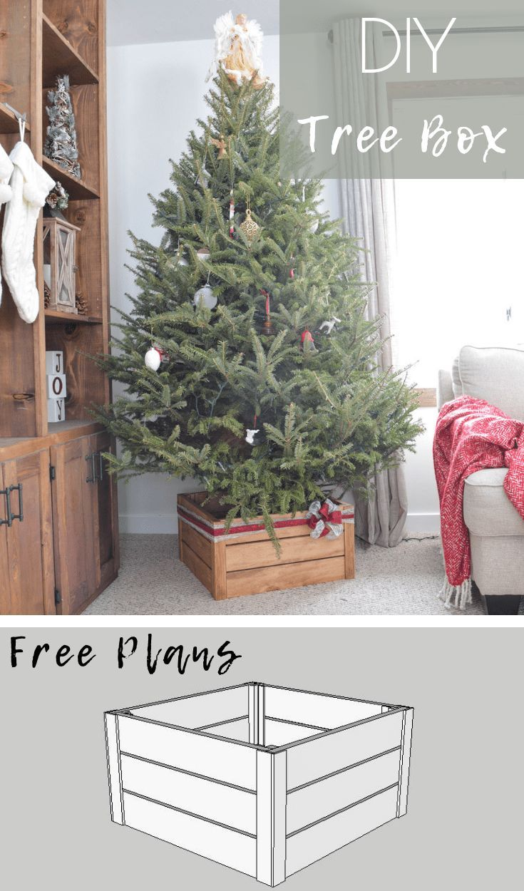 Diy Christmas Tree Stand Build A Collapsible Christmas Tree Box With Free Plans Christmas Tree Stand Diy Christmas Tree Box Stand Collapsible Christmas Tree