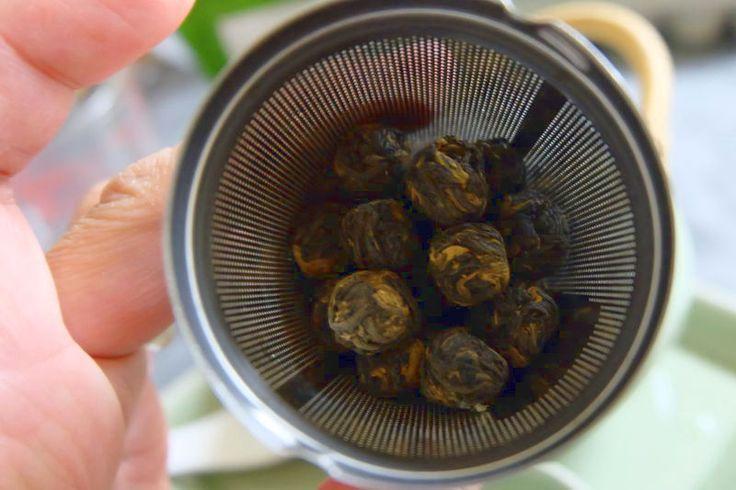 tealyra black dragon pearl tea dried leaves #tea #blacktea #dragonpearltea #dragonpearls #tealyra #teareview #teablog