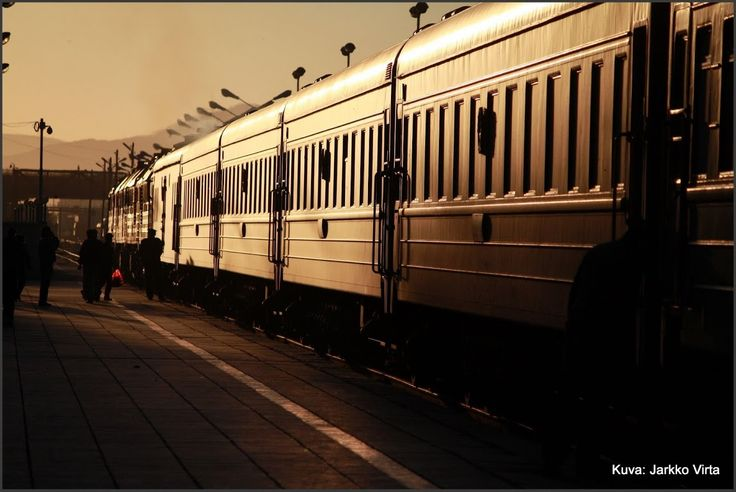 Trans Mongolian Train at Ulanbaatar.