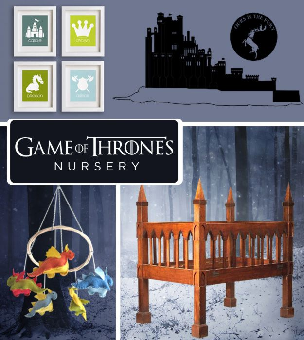 The baby is coming. Prepare for your little lords and ladies with a room fit for nobility.   Dragon mobile!