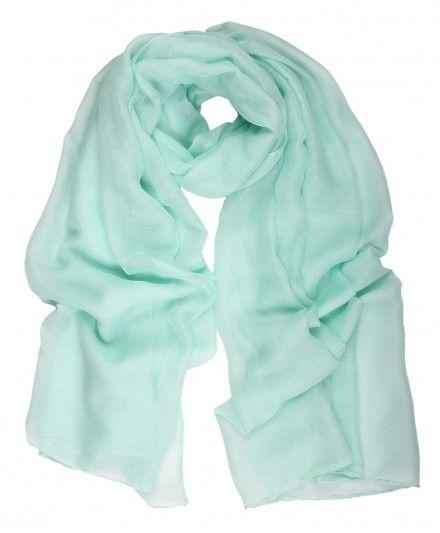 Soft Plain Summer Mint Hijab