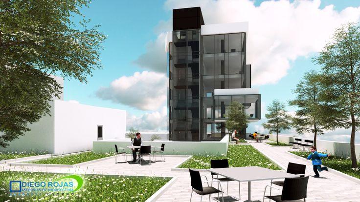 Proyecto: Edificio de Oficinas Polifuncional - Terrazas Multiuso -  Arquitecto: Diego Rojas